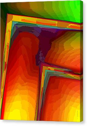 Yellow Orange And Green Design Canvas Print by Mario Perez
