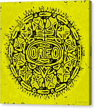 Yellow Oreo Canvas Print by Rob Hans