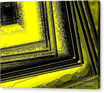 Yellow Over Yellow Art Canvas Print by Mario Perez
