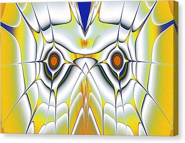 Yellow Owl Canvas Print by Anastasiya Malakhova