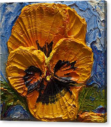 Yellow Pansy Canvas Print by Paris Wyatt Llanso