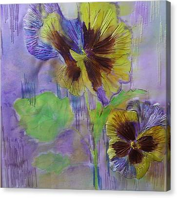 Yellow Pansy Canvas Print by Serendipitous Silks Fine Art