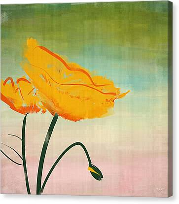 Memorial Canvas Print - Yellow Poppies by Lourry Legarde