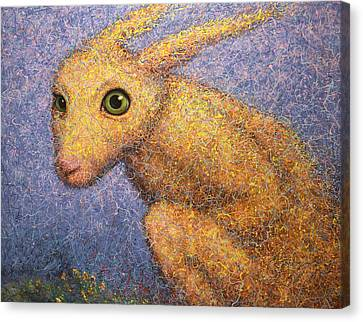 Yellow Rabbit Canvas Print by James W Johnson