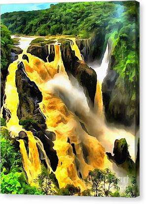 Yellow River Canvas Print by Catherine Lott