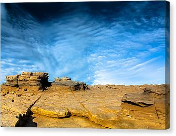Canvas Print featuring the photograph Yellow Rock by Edgar Laureano