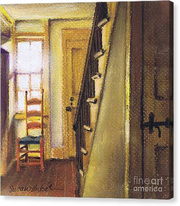 Canvas Print featuring the painting Yellow Room by Susan Herbst