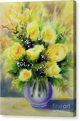 Fill Canvas Print - Yellow Roses by Kathy Braud