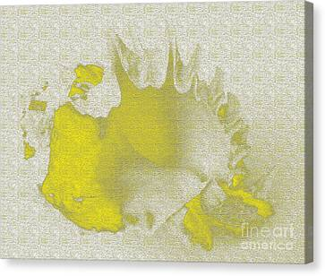 Yellow Shell Canvas Print by Carol Lynch