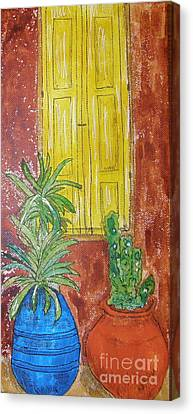 Yellow Shutters Canvas Print