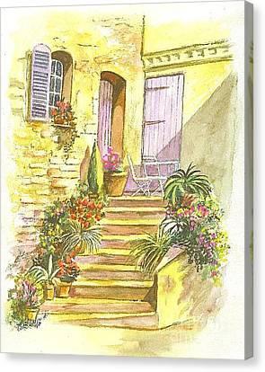 Yellow Steps Canvas Print by Carol Wisniewski