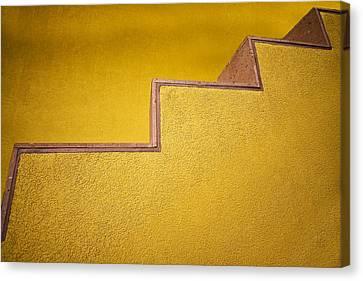 Yellow Steps Canvas Print