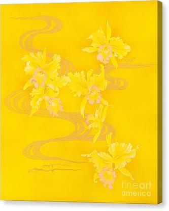 Yellow Stream Canvas Print by Haruyo Morita