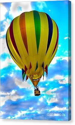 Arizonia Canvas Print - Yellow Striped Hot Air Balloon by Robert Bales