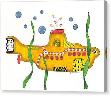 Yellow Submarine Canvas Print by Sue Brassel