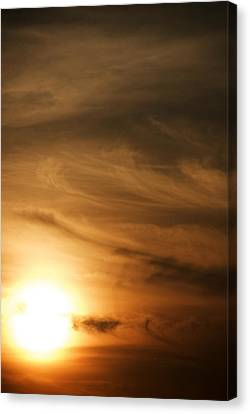 Yellow Sun Canvas Print by Rajiv Chopra