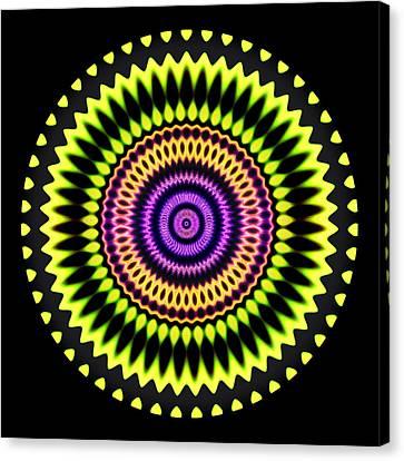 Yellow Sundial Canvas Print by Visual Artist  Frank Bonilla