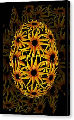 Yellow Sunflower Seed Canvas Print by Barbara St Jean