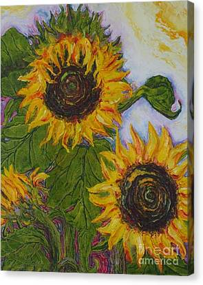 Yellow Sunflowers Canvas Print by Paris Wyatt Llanso