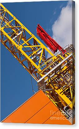 Yellow Tower Crane Canvas Print by Rick Piper Photography