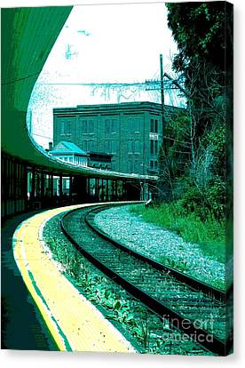 Yellow Track Canvas Print by Sally Simon