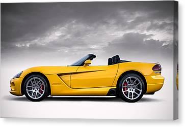 Viper Canvas Print - Yellow Viper Roadster by Douglas Pittman