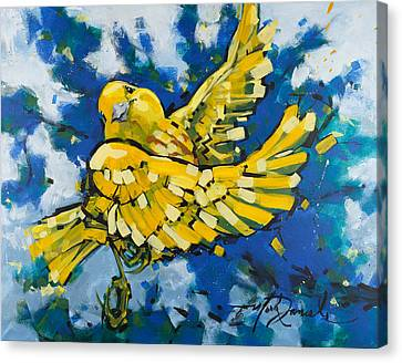 Yellow Warbler's Joy Canvas Print