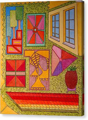 Yellow Window Canvas Print