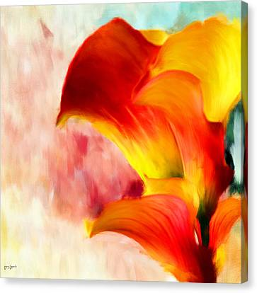Yellow With A Red Canvas Print by Lourry Legarde