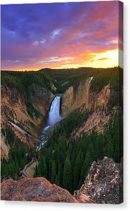 Canvas Print featuring the photograph Yellowstone Beauty by Kadek Susanto