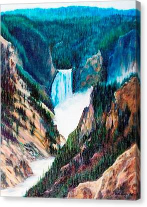 Yellowstone Falls Canvas Print by Patti Gordon