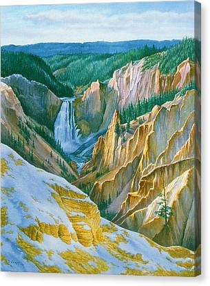 Yellowstone Grand Canyon - November Canvas Print by Paul Krapf