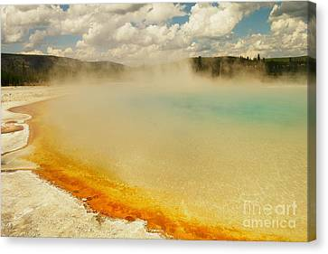 Yellowstone Hot Springs Canvas Print by Jeff Swan