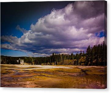 Canvas Print featuring the photograph Yellowstone In October by Janis Knight