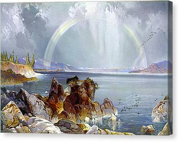Yellowstone Lake 1875 Canvas Print by Unknown