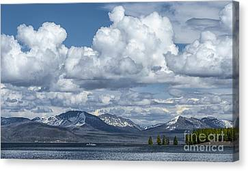 Yellowstone Lake Cloudscape Canvas Print by Sandra Bronstein