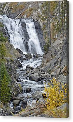 Yellowstone's Mystic Falls In October Canvas Print