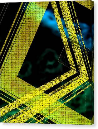 Yelow And Blue Digital Art Canvas Print by Mario Perez