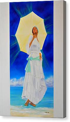 Yemaya II Canvas Print by KCatia Creole Art