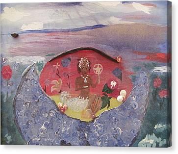 Yemanja Canvas Print by Susan Snow Voidets
