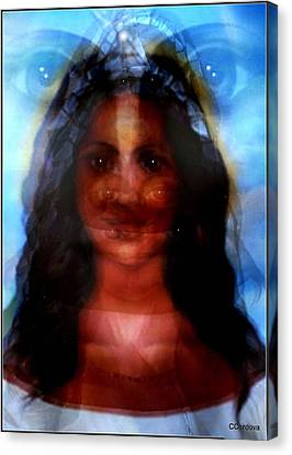 Yemaya -she Sees All Canvas Print by Carmen Cordova
