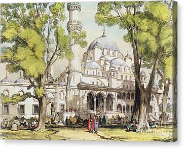 Yeni Jami Constantinople Canvas Print by John Frederick Lewis