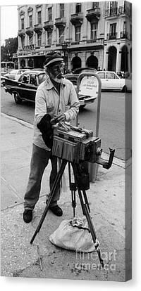 Old Man With Beard Canvas Print - Yep  We Both Still Work by John Malone