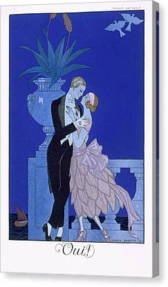 Yes Canvas Print by Georges Barbier