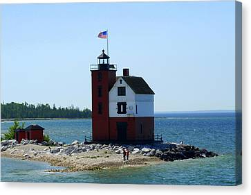 Canvas Print featuring the photograph Yes Michigan by Debra Kaye McKrill