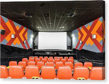 Empty Chairs Canvas Print - Yes Planet Movie Theatre by Photostock-israel