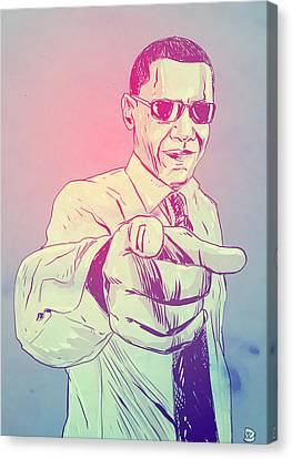 Barack Obama Canvas Print - Yes You Can by Giuseppe Cristiano