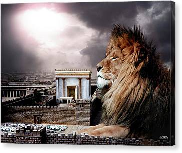 Yeshua In The Outer Court Canvas Print by Bill Stephens