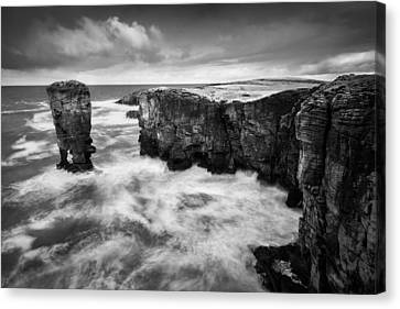 Yesnaby Castle Canvas Print by Dave Bowman