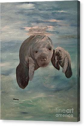 Yessir Thats My Baby Canvas Print by Sharon Burger